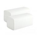 Бумажные полотенца Lime V-сложения, однослойные, белые. Размер листа - 23x24 см, белизна 83-86%, доля целлюлозы - 60%. 250 листов в пачке.