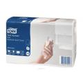 вухслойные ультрамягкие бумажные полотенца Торк. Обладают высокой впитывающей и высушивающей способностью.  Упакованы в полиэтиленовую пленку защищающую полотенца от загрязнения и позволяющую использовать их без диспенсера - выдаются по одному листу.  Система Н2. Категория качества – Advanced.  Состав - 100% целлюлоза.  Цвет белый.  Размеры листа 234х213 мм, в пачке 190 листов, 20 пачек в упаковке.