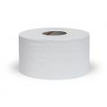 Бумага туалетная промышленная, белого цвета, мягкая, с перфорацией , для диспенсеров на втулке , H 9.5 см , L 200м, 31 г/м2, 2 слоя, идеально подходит для мест с большой проходимостью людей.