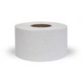 Бумага туалетная промышленная, белого цвета, мягкая, с перфорацией , для диспенсеров на втулке , H 9.5 см , L 2000 м, 30 г/м2, 2 слоя, идеально подходит для мест с большой проходимостью людей.